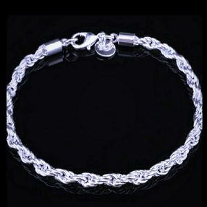 Jewelry - Silver Twisted Rope Chain